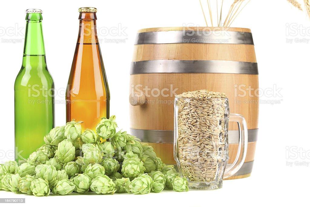 Hop and barley. royalty-free stock photo