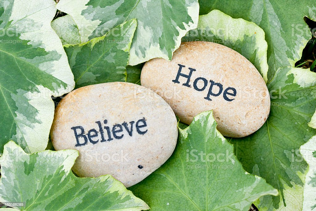 Hope and Believe royalty-free stock photo