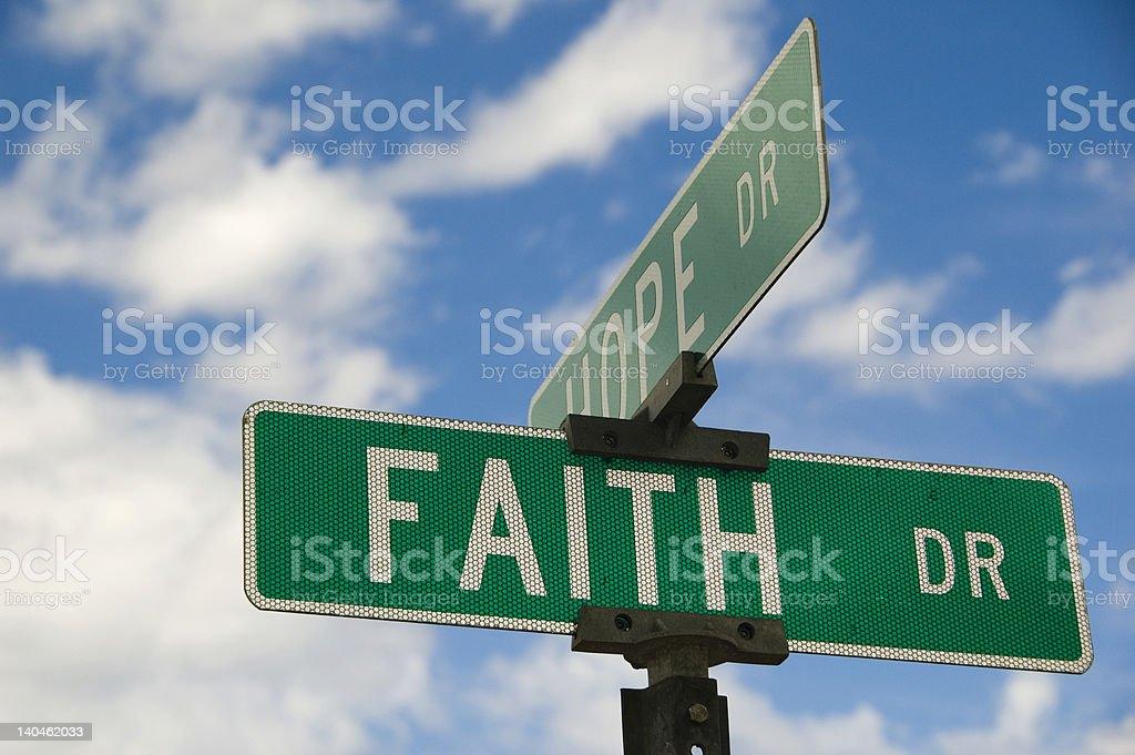 Hope and Faith royalty-free stock photo