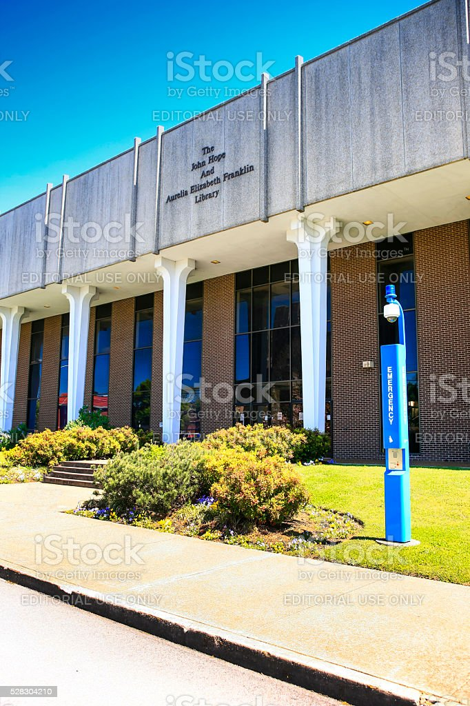 Hope and Franklin Library building on Fisk University campus, Nashville stock photo