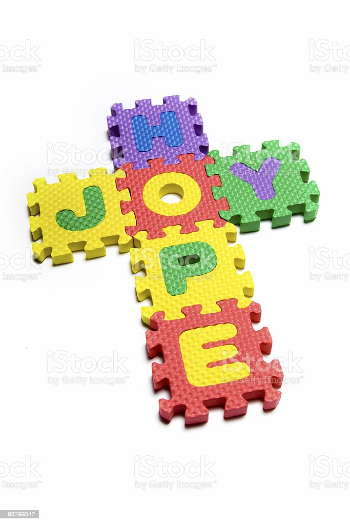 Hope and Joy in the Cross royalty-free stock photo