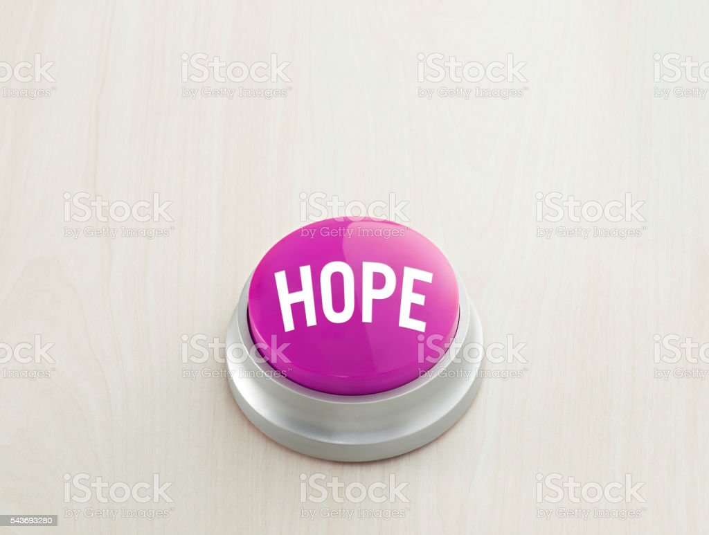 Hope Button stock photo