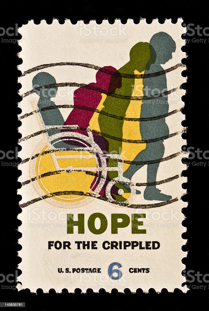 Hope for the Crippled Stamp royalty-free stock photo
