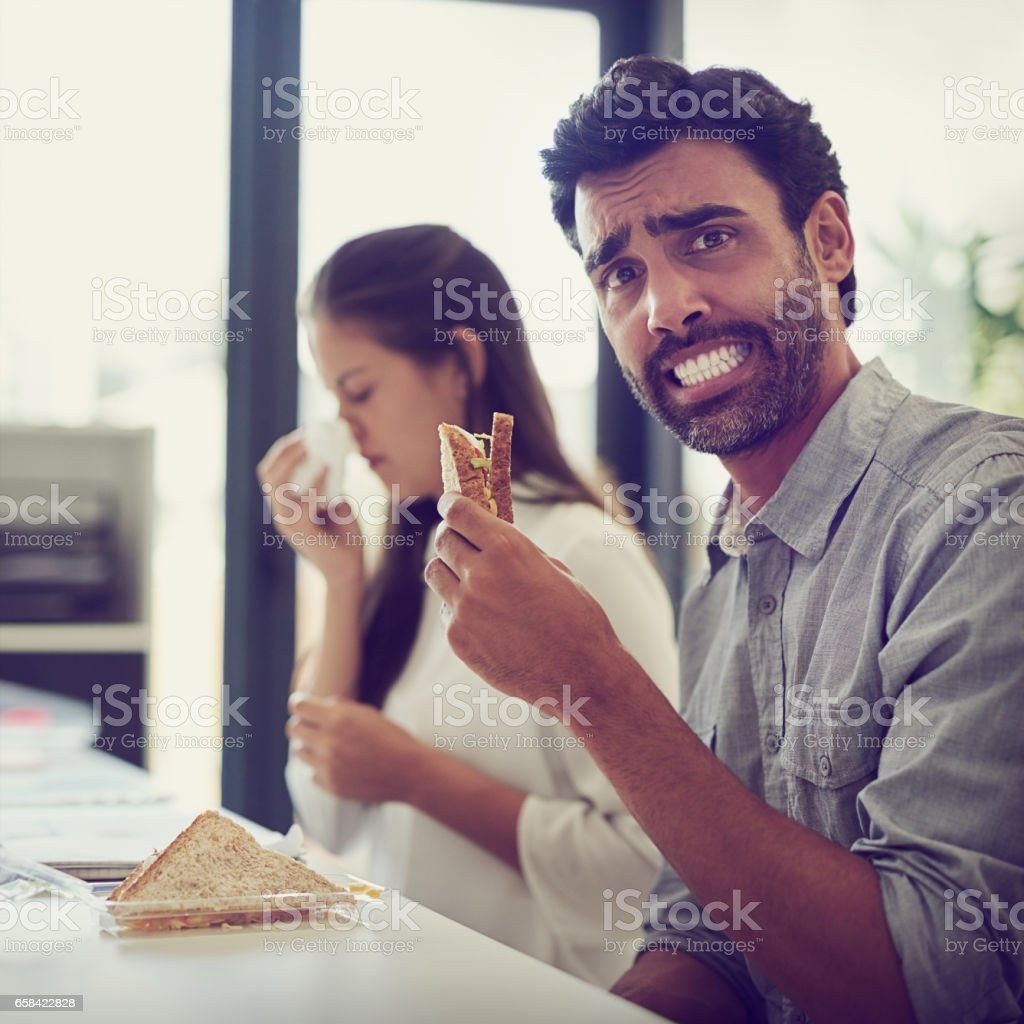 Hope I don't catch her germs stock photo