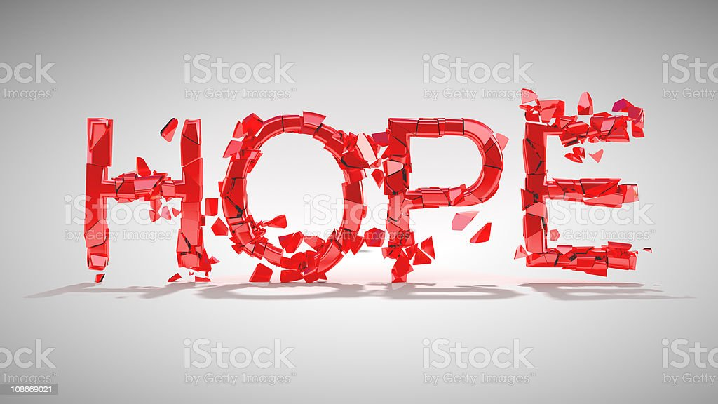 XXXL Hope is lost. Word destruction royalty-free stock photo