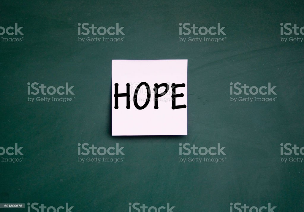 hope note stock photo