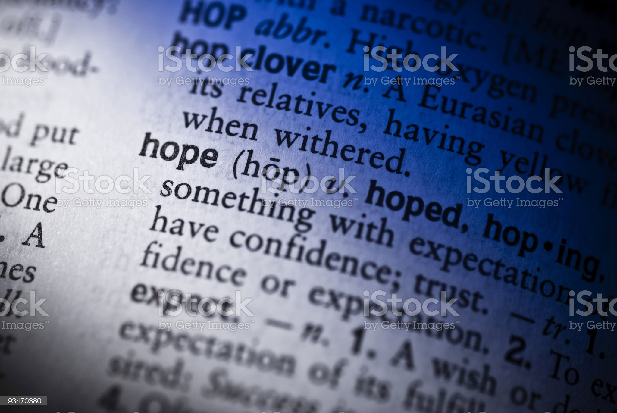 Hope (with Blue theme) royalty-free stock photo