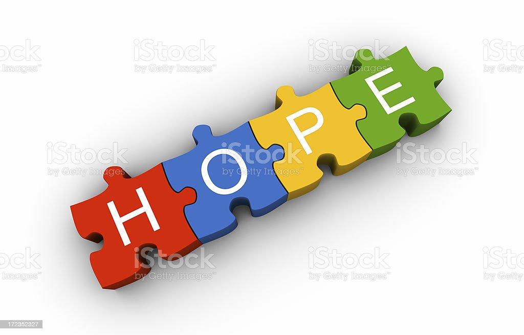 Hope puzzle royalty-free stock photo