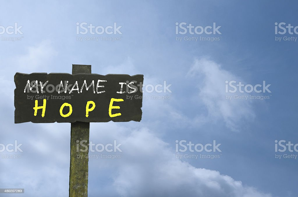 Hope Sign stock photo
