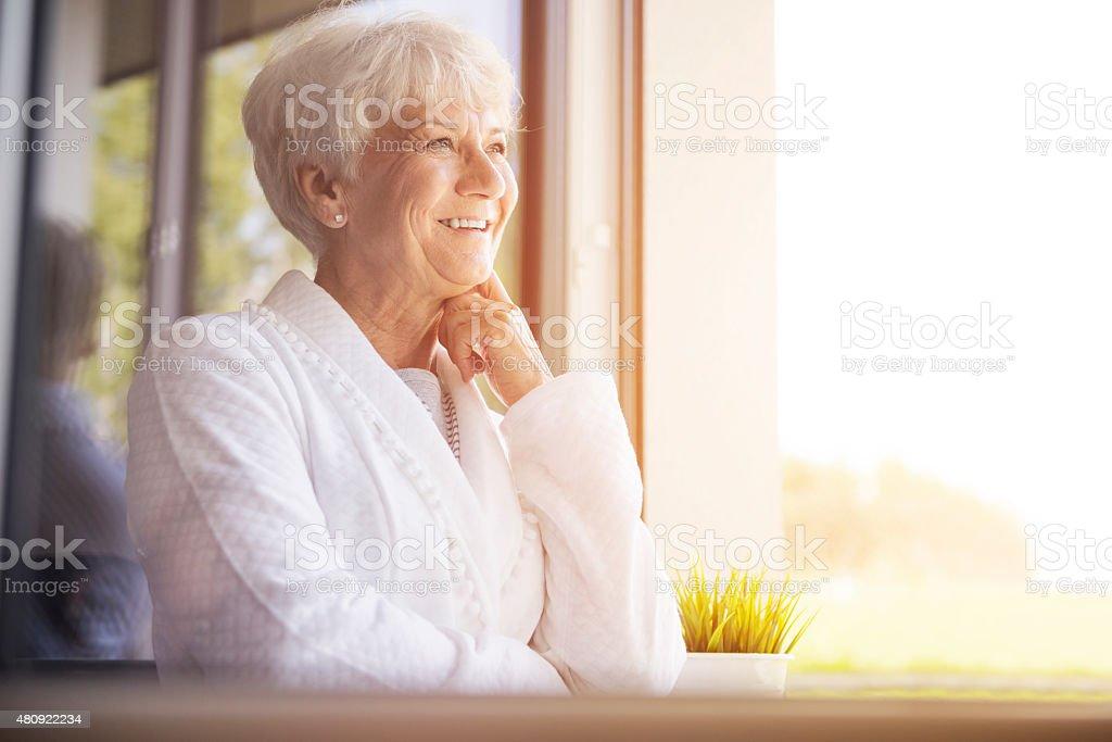 Hope the day will stay sunny stock photo
