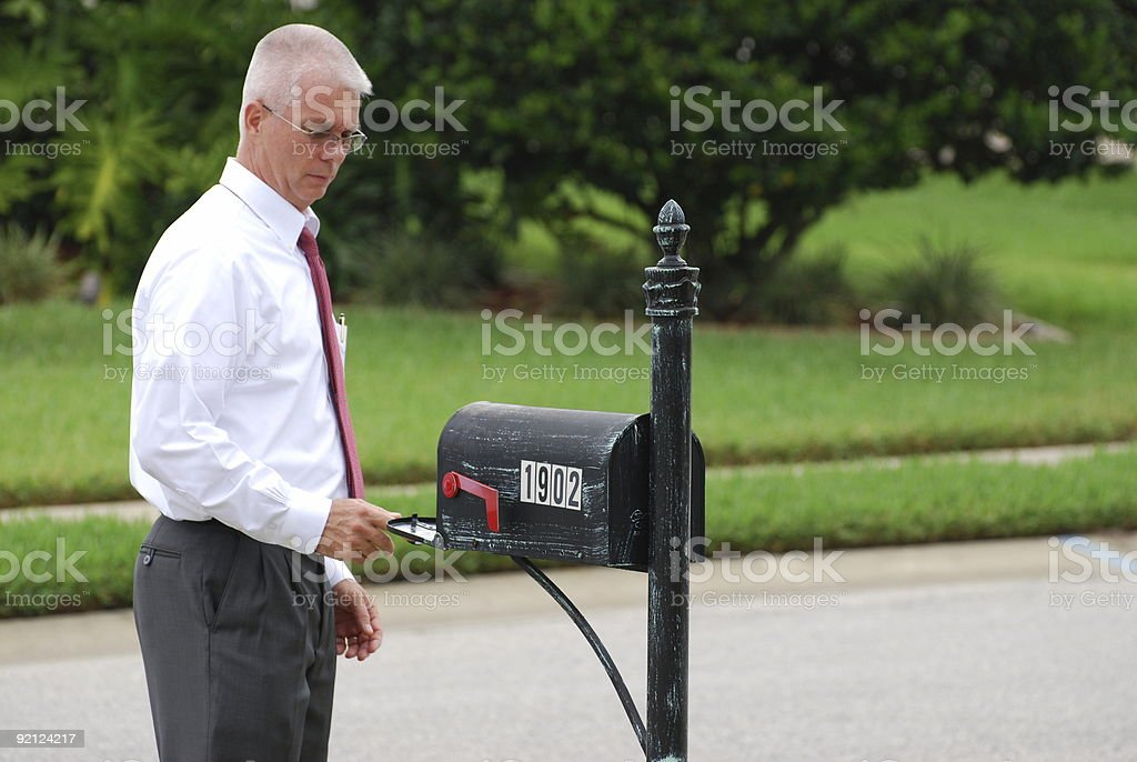 Hope There Are No Bills Today! stock photo