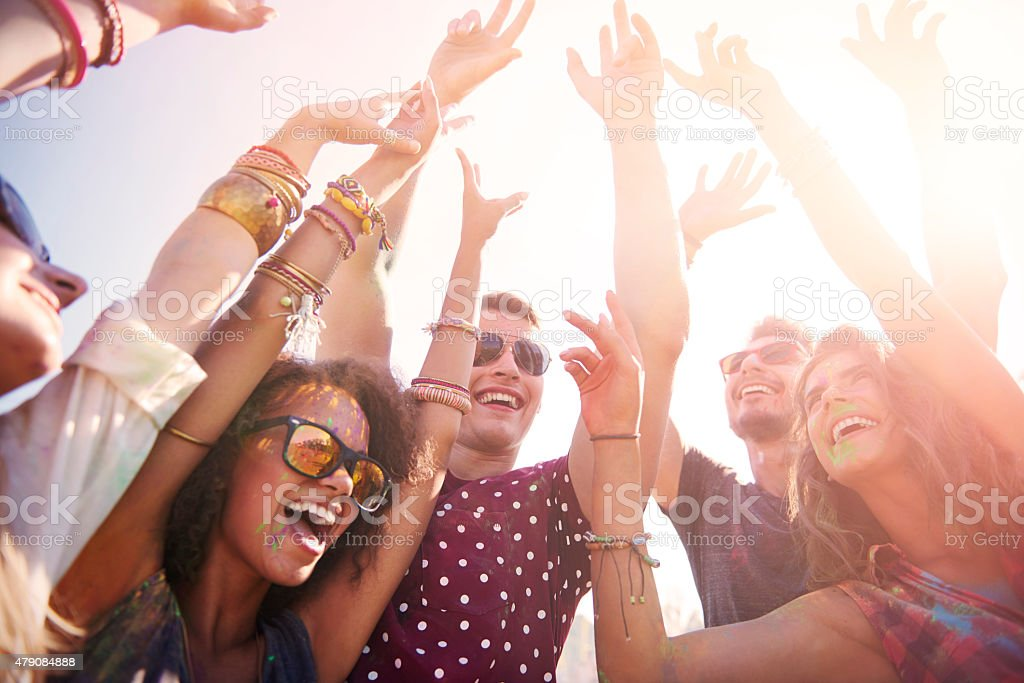 Hope this party never stops stock photo