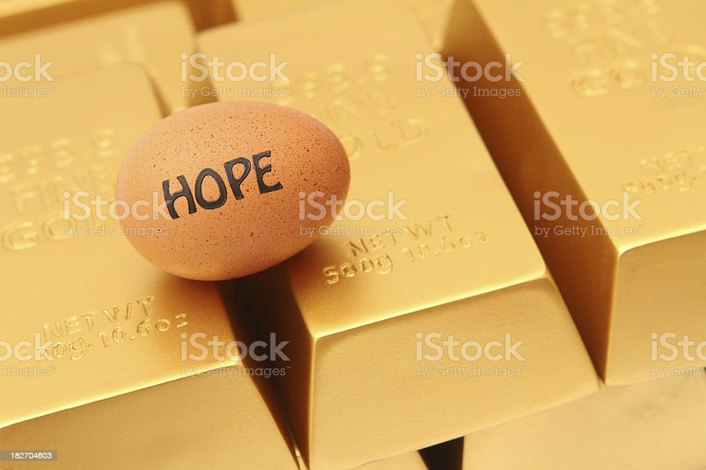 Hope to Be Rich stock photo