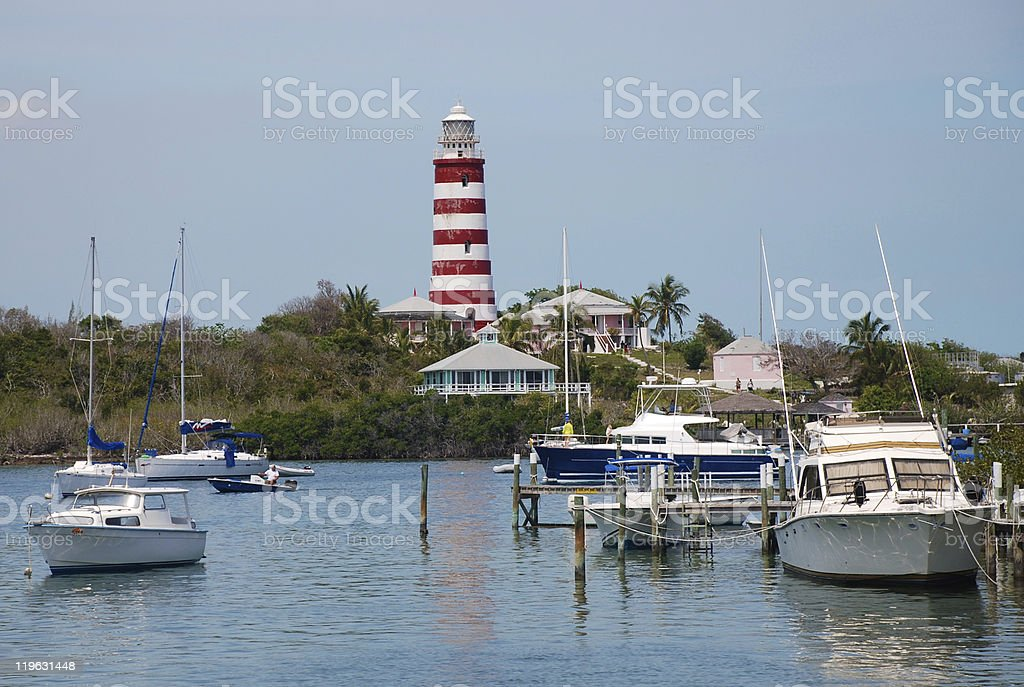 Hope Town Lighthouse stock photo