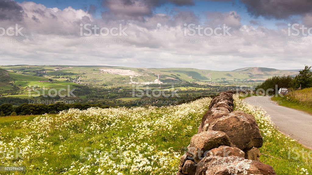 Hope Valley in spring stock photo