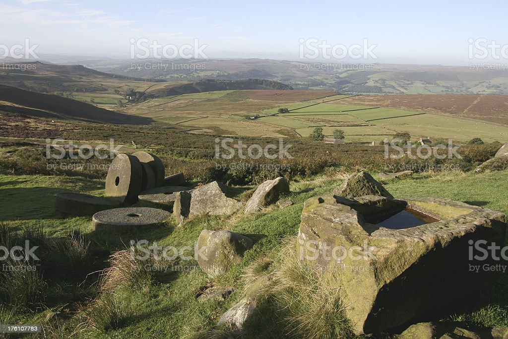 Hope  Valley, Stanage Peak District National Park stock photo
