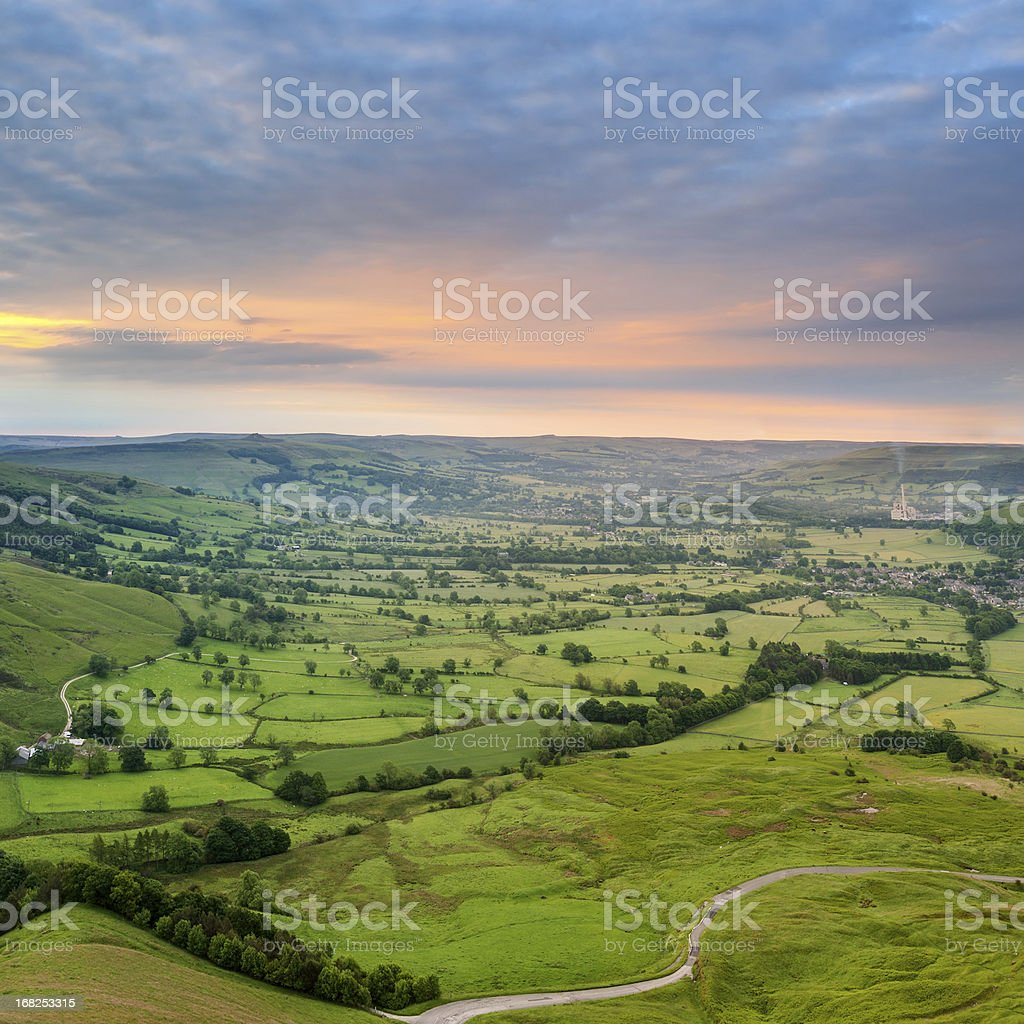 Hope Valley Sunrise, Peak District royalty-free stock photo