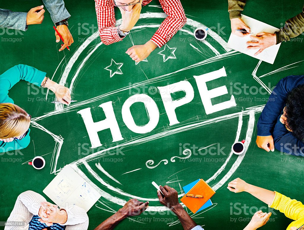 Hope Worship Prayer Spirituality Pray Concept stock photo