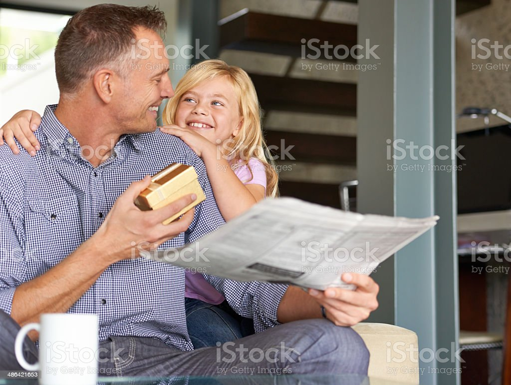 I hope you like it Dad stock photo
