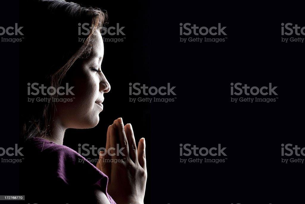 Hopeful prayer royalty-free stock photo