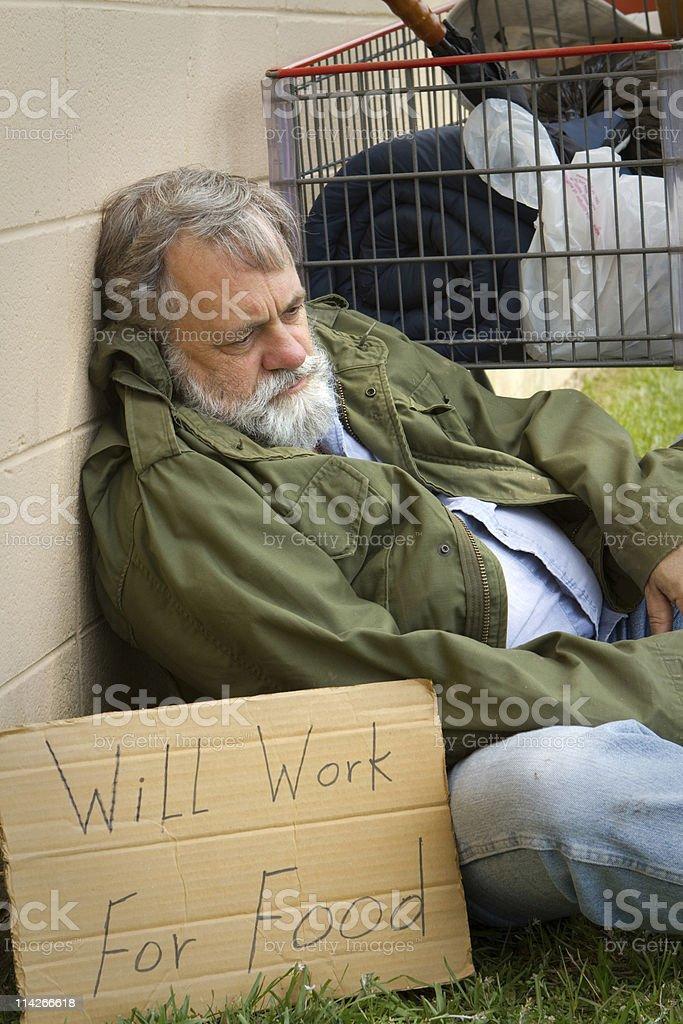 Hopeless Homeless stock photo