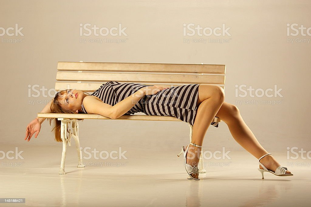 Hopeless woman royalty-free stock photo