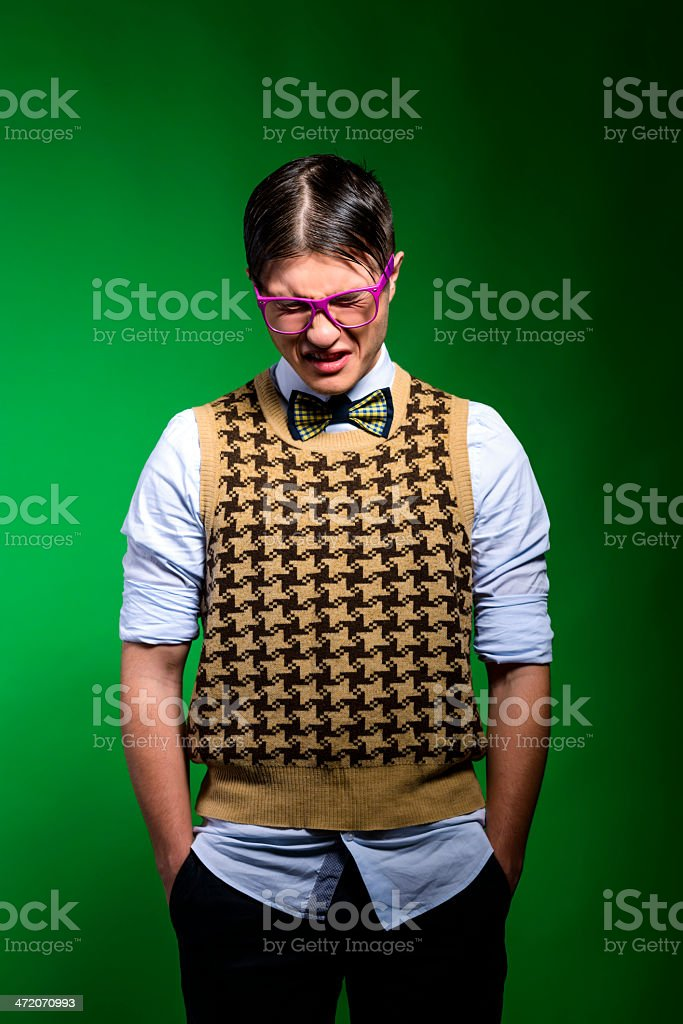 hopelessness nerd royalty-free stock photo