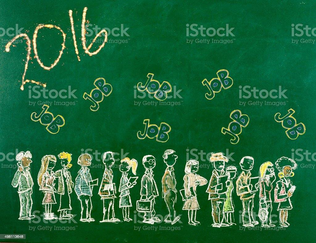 Hopes for New Year vector art illustration