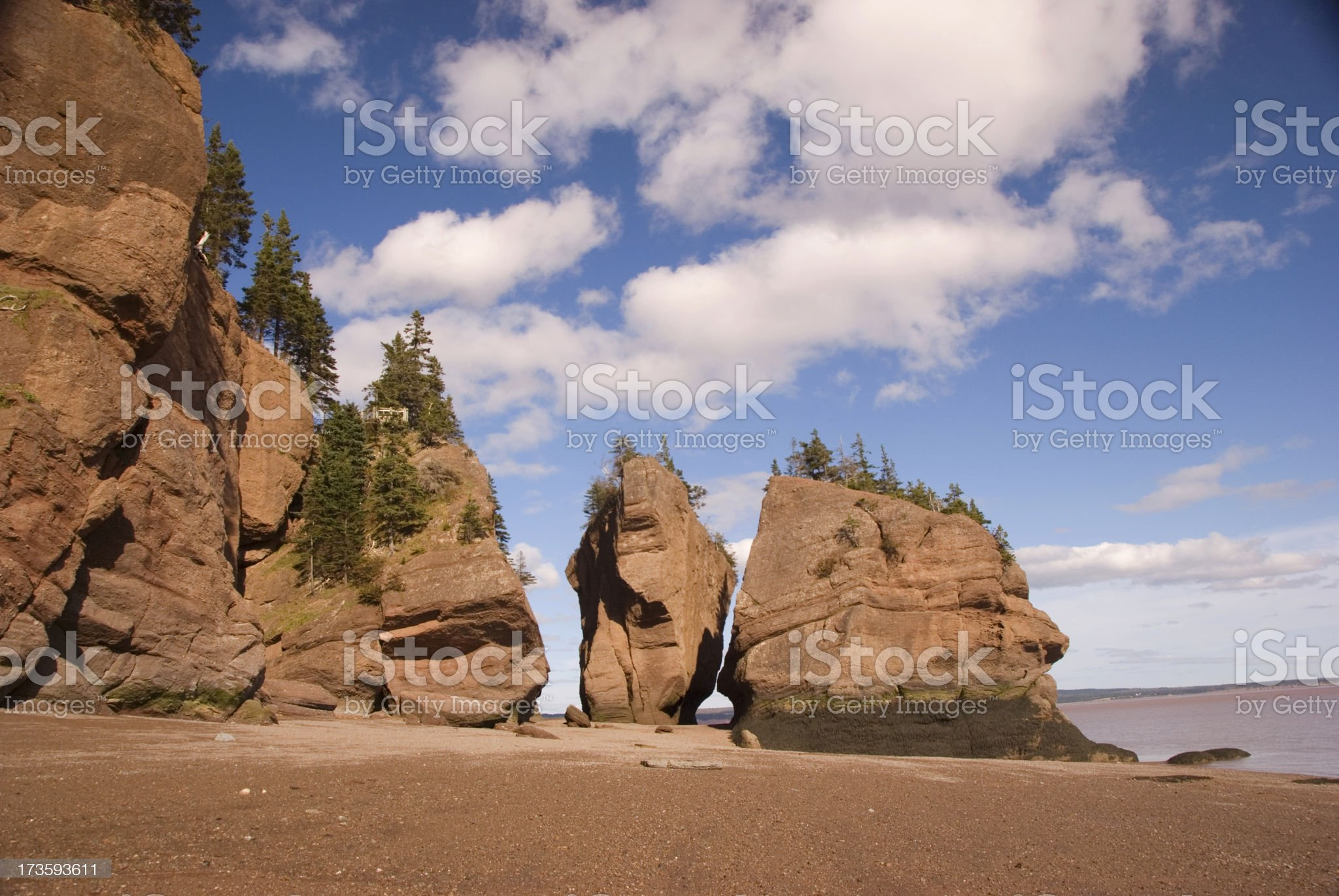 Hopewell Rocks royalty-free stock photo