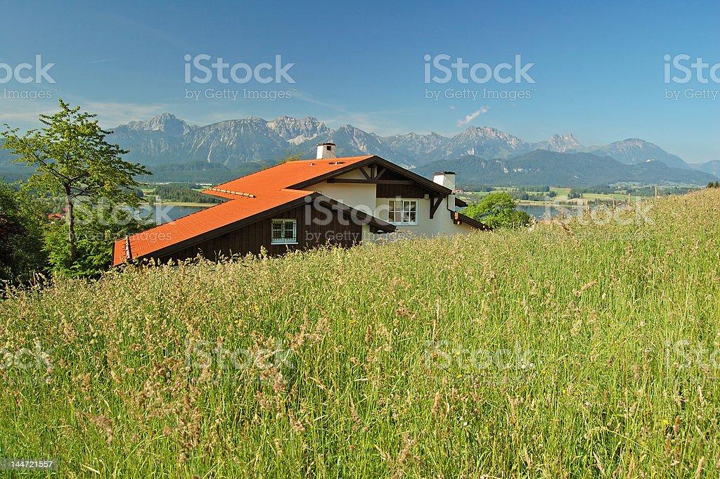Hopfen am See, Allgäu, en Allemagne: meadow photo libre de droits