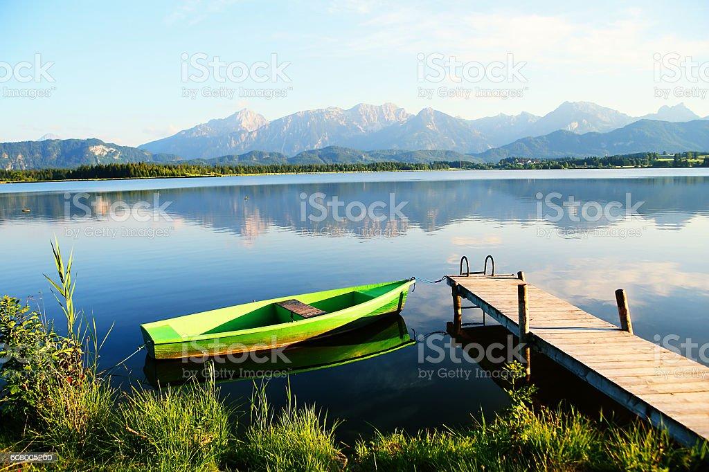 Hopfensee Bavarian Alps stock photo