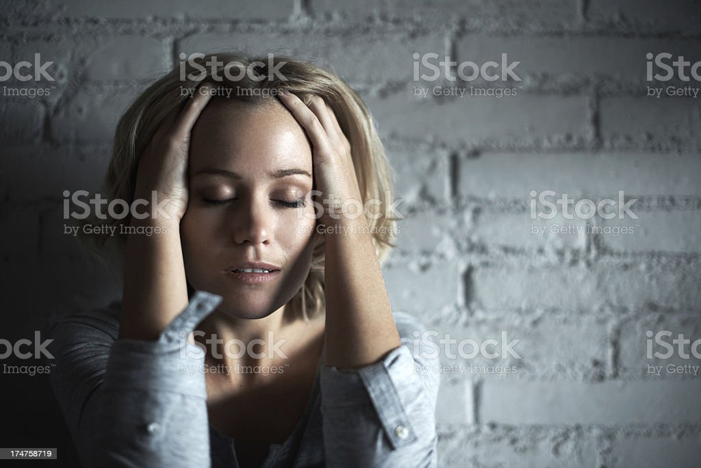 Hoping for some relief royalty-free stock photo