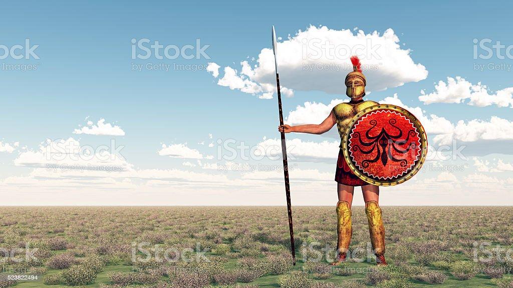 Hoplite of ancient Greece stock photo
