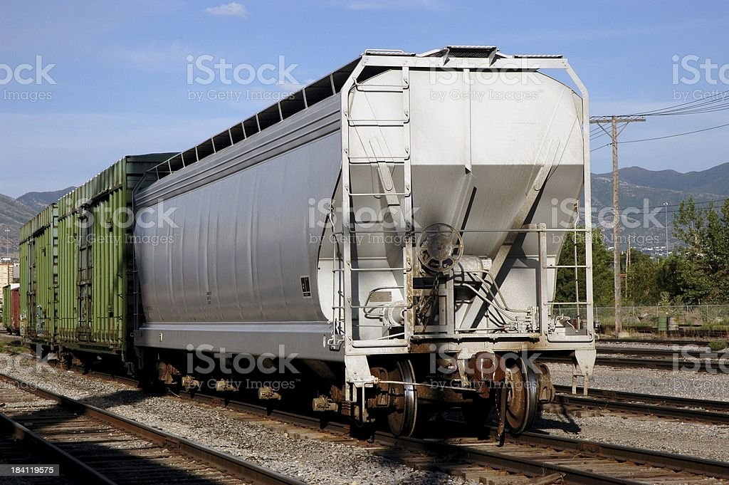 Hopper Car on Freight Train royalty-free stock photo