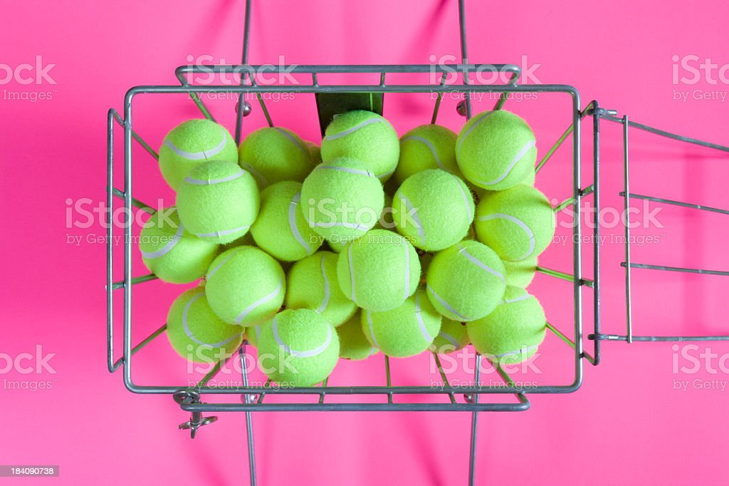 Hopper of Tennis Balls stock photo