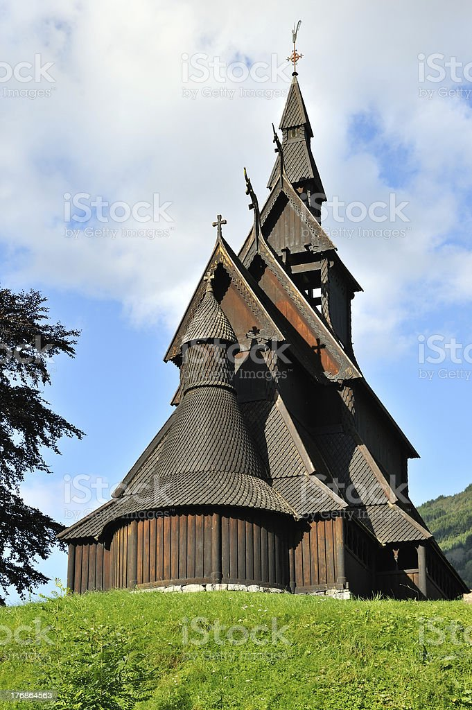 Hopperstad Stave Church - Norway stock photo