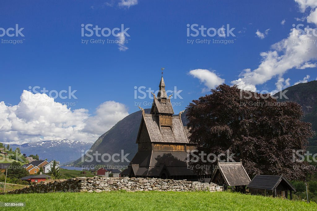 Hopperstad Stave Church stock photo