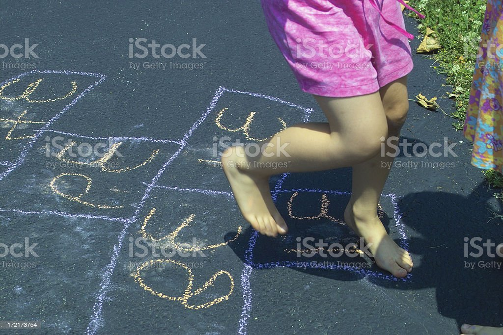 hopping feet royalty-free stock photo