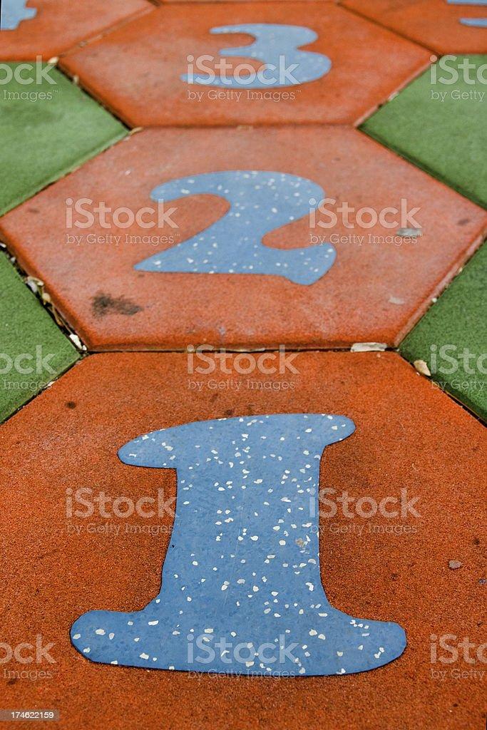 Hopscotch Board royalty-free stock photo