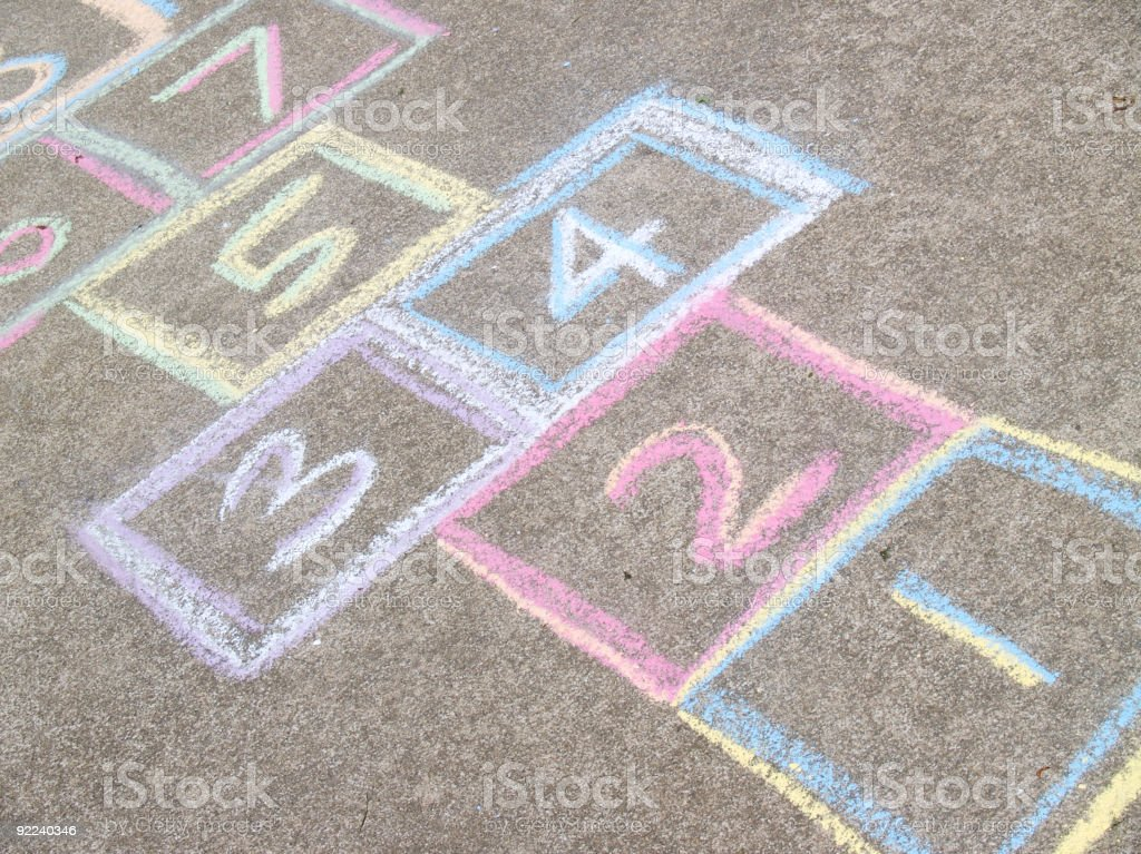 Hopscotch board royalty-free stock photo