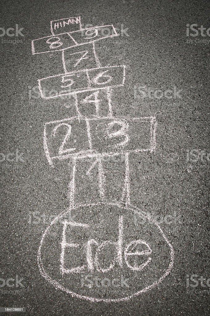 hopscotch on asphalt royalty-free stock photo