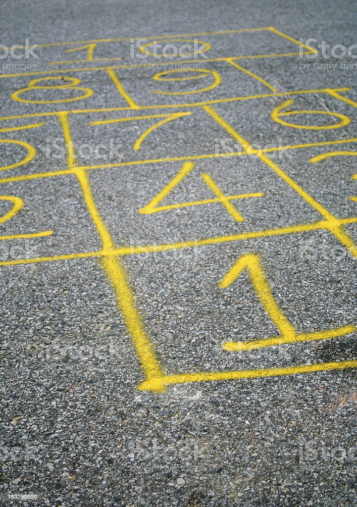 Hopscotch royalty-free stock photo