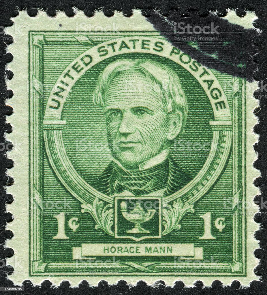 Horace Mann Stamp stock photo