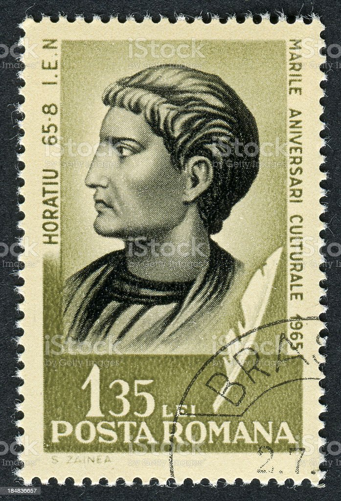 Horace Stamp stock photo