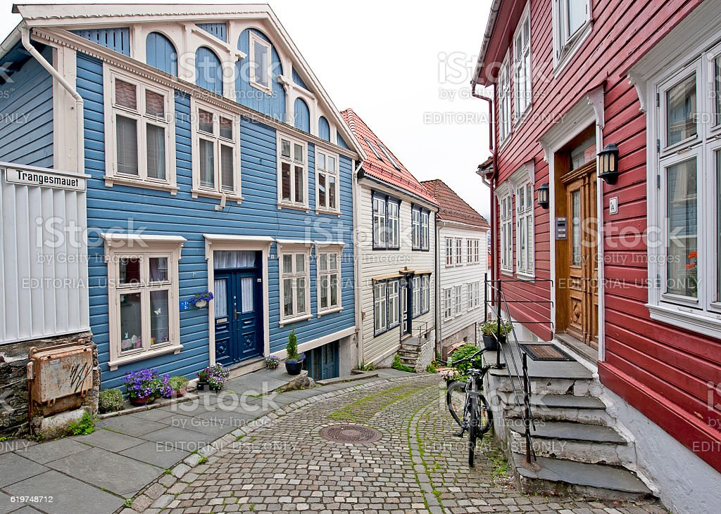 Hordaland hill, Bergen, Norway stock photo