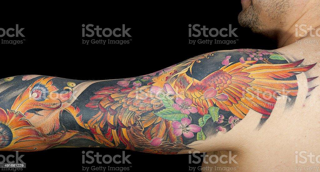 Horitzontal Arm Tattooed stock photo