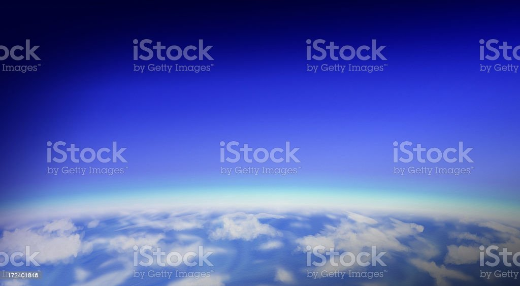 Horizon of Blue royalty-free stock photo