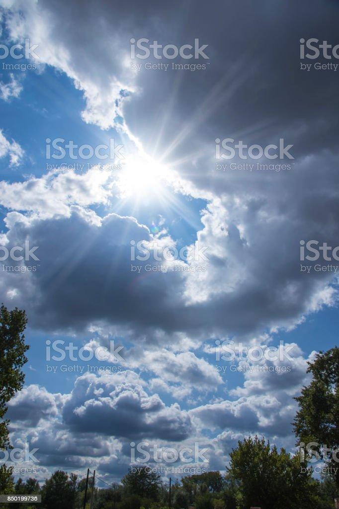 Horizon of clouds stock photo