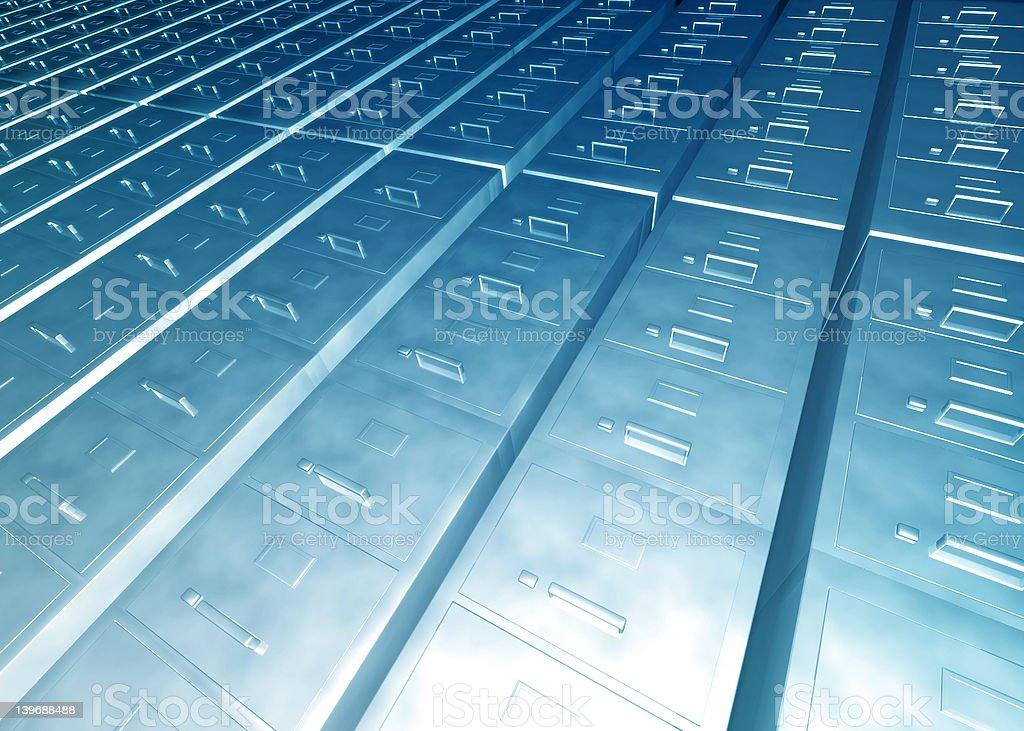Horizon of Files royalty-free stock photo