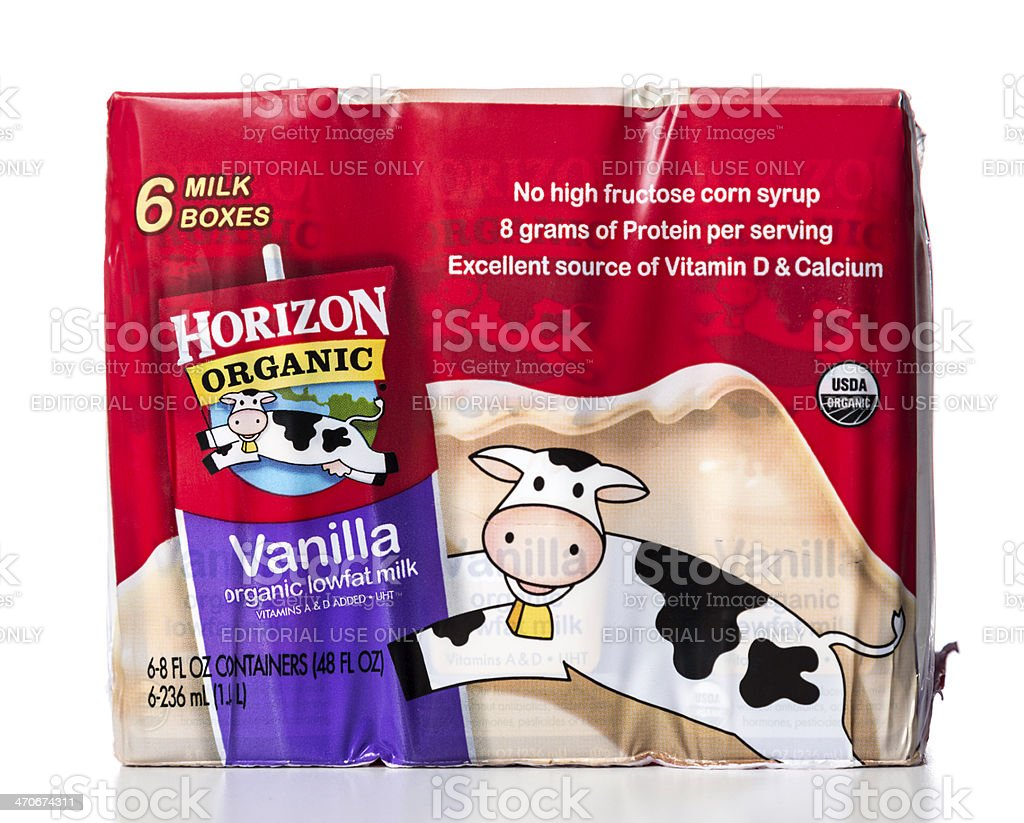 Horizon Organic Vanilla milk boxes pack royalty-free stock photo